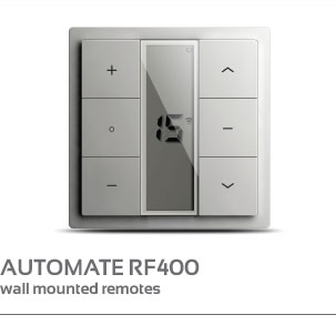 AUTOMATE RF400 wall mounted remotes