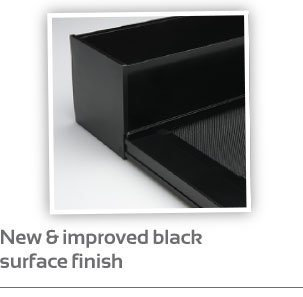 New & improved black surface finish