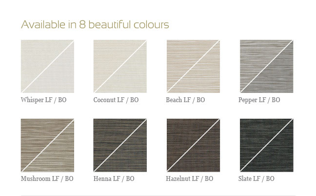 Available in 8 beautiful colours