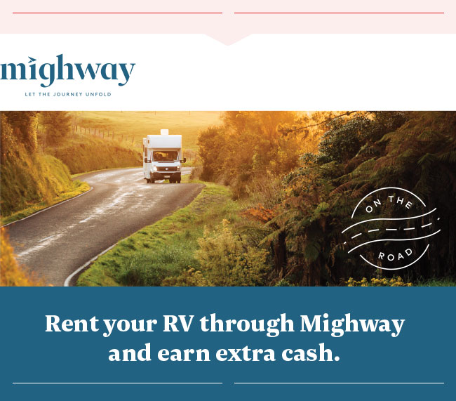 Rent your RV through Mighway and earn extra cash.